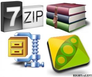 Winrar vs 7-Zip vsWinZip vs PeaZip