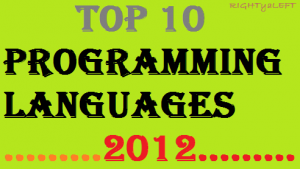 top 10 Programming Languages of 2012