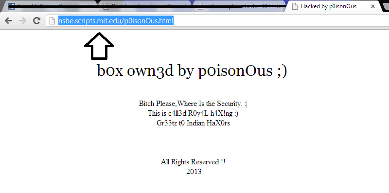 Mit.Edu server 0wn by p0isonOus an Indian hacker