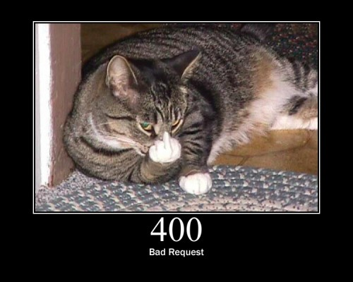 400 Bad Request - Due to Bad Syntax, the request could not be filled.