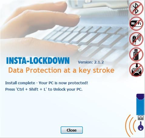 3 insta lockdown after installation
