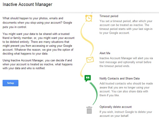 Inactive Account Manager Google